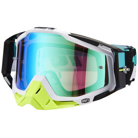 100% Racecraft Anti Fog Mirror Goggles vit/svart